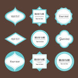 Dekorativ etikettuppsättning för vektor Stock Illustrationer