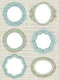 dekorativ etikettvektor för cirkel Royaltyfri Bild
