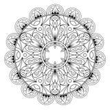 Dekorativ etnisk mandalamodell sida f?r Anti--sp?nning f?rgl?ggningbok f?r vuxna m?nniskor Ovanlig blommaform Orientalisk vektor vektor illustrationer