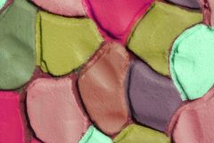 Dekorativ färg korrugerad murbrukbakgrund, XXXL Royaltyfri Bild