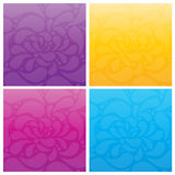 Dekorativ färgrik bakgrund Royaltyfri Bild