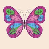 Dekorativ färgrik fjäril Royaltyfri Foto
