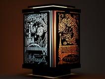 Dekorativ färgrik lampa Royaltyfri Fotografi