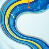 Dekorativ färgrik musikalisk bakgrund Arkivfoton