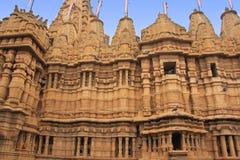 Dekorativ fasad av den Jain templet, Jaisalmer, Indien Arkivbilder