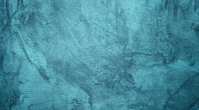 Dekorativ fast turkosbakgrund för abstrakt Grunge Arkivbilder