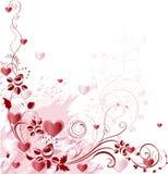 Dekorativ filial med hjärtor Royaltyfria Bilder