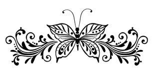 dekorativ fjäril stock illustrationer