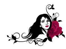 dekorativ flicka Royaltyfri Foto