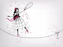 dekorativ flicka Arkivbild