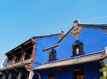 Dekorativ forntida kinesisk byggnad specificerar Royaltyfri Fotografi