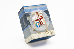 dekorativ gåva för askjul royaltyfri fotografi