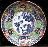 dekorativ gammal platta royaltyfria bilder