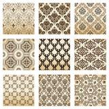 dekorativ gammal seamless settappningwallpaper Royaltyfri Bild