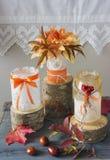 dekorativ glass jar Arkivfoton