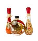 Dekorativ glass kitchenware Arkivfoto