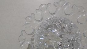 Dekorativ glass prydnad för Glass bunke Royaltyfri Bild