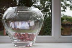 Dekorativ glass vas arkivbilder