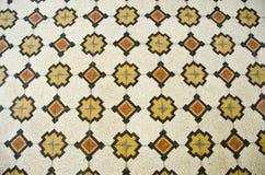 Dekorativ golvbakgrund för historiska tegelplattor arkivbild