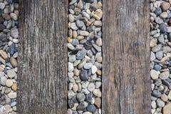 Dekorativ golvmodell av en bästa sikt för grussten Arkivbild