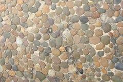 Dekorativ golvmodell av grusstenar Royaltyfri Foto