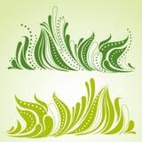 dekorativ gräsfjäder för bakgrund royaltyfri illustrationer
