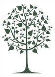 dekorativ grön tree stock illustrationer