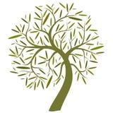 dekorativ grön tree vektor illustrationer