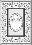 Dekorativ grafisk ramfilt Fotografering för Bildbyråer