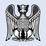 Dekorativ grip Medeltida gotisk stilbegreppskonst vektor för bild för designelementillustration royaltyfri illustrationer