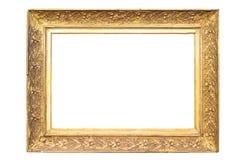 Dekorativ guld- bildram för rektangel arkivbild