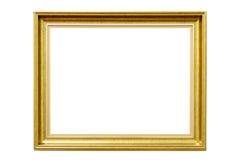 Dekorativ guld- bildram för rektangel arkivbilder