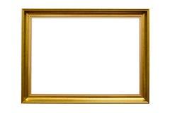 Dekorativ guld- bildram för rektangel royaltyfri bild