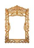 Dekorativ guld för ram Arkivfoton