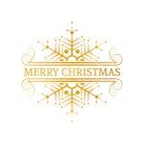Dekorativ guld- juldesignbeståndsdel Royaltyfri Bild