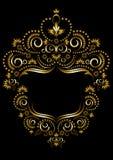 Dekorativ guld- ram i orientalisk stil. Arkivbilder