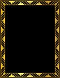 Dekorativ guld- ram på en svart bakgrund Royaltyfria Foton
