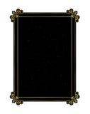 Dekorativ guld- ram på en svart bakgrund Royaltyfri Fotografi