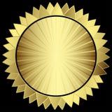 Dekorativ guld- stjärna Royaltyfri Foto
