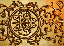 dekorativ guld- vägg Arkivfoto