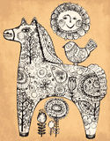 Dekorativ häst Royaltyfria Bilder