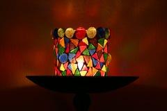 dekorativ hållare för stearinljus arkivbilder