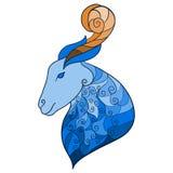 Dekorativ hand-teckning blåttget som isoleras på vit bakgrund vektor illustrationer