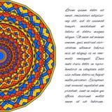 Dekorativ handgjord etnisk kortmall Snöra åt abstrakt bakgrund Royaltyfria Foton