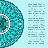 Dekorativ handgjord etnisk kortmall Snöra åt abstrakt bakgrund Arkivfoton