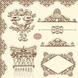 Dekorativ historisk designbeståndsdel av Lviv Arkivbild