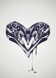 Dekorativ hjärtaillustration Royaltyfri Bild
