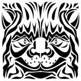 Dekorativ illustration för vektor för huvud för katt` s Arkivbild