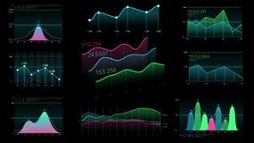 Dekorativ infographics från linjära diagram