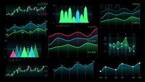 Dekorativ infographics från linjära och stearinljusdiagram